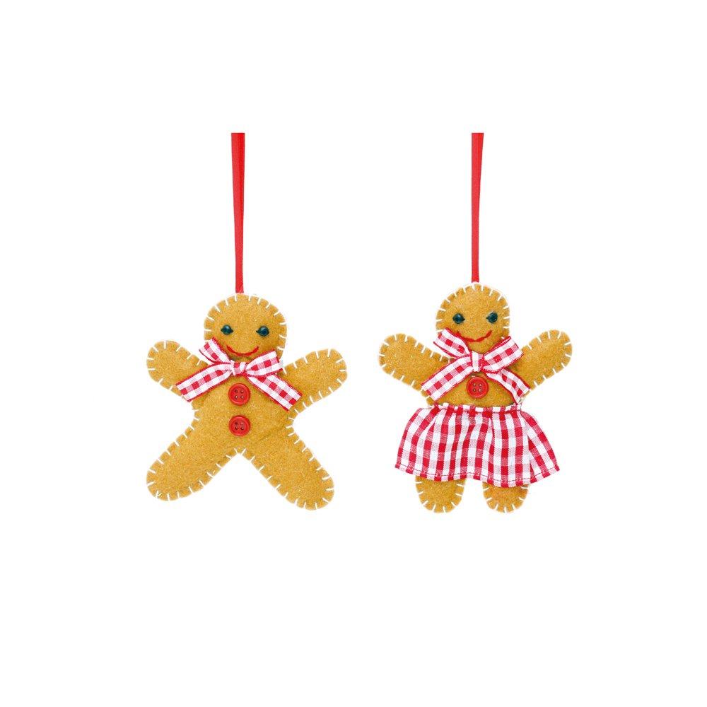 Enfeite de Pelúcia - Senhora e Senhor Ginger - 01 un de Cada