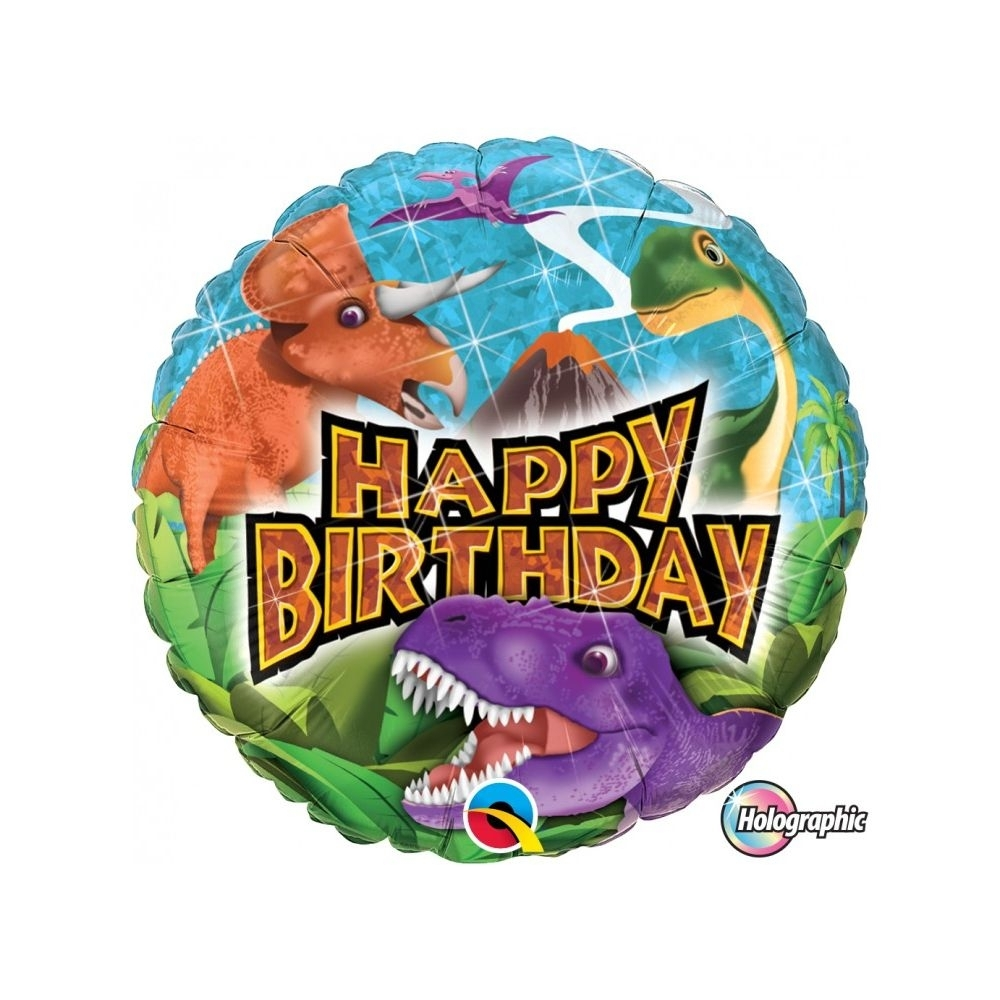 Happy Birthday Dinossauro Holográfico - 01 unidade