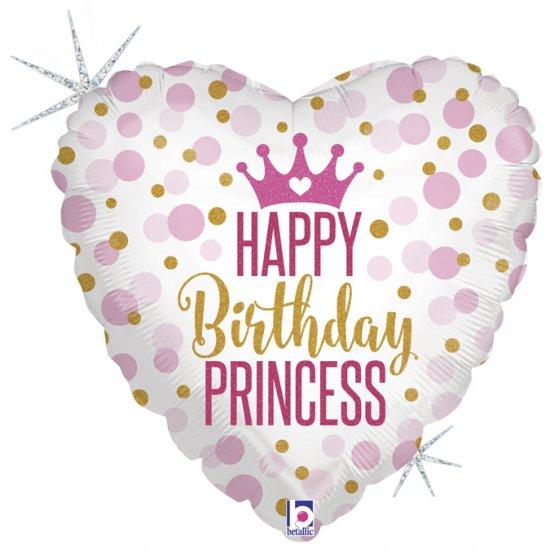"Happy Birthday Glitter Princess - 18""  Ean :8055513367005"
