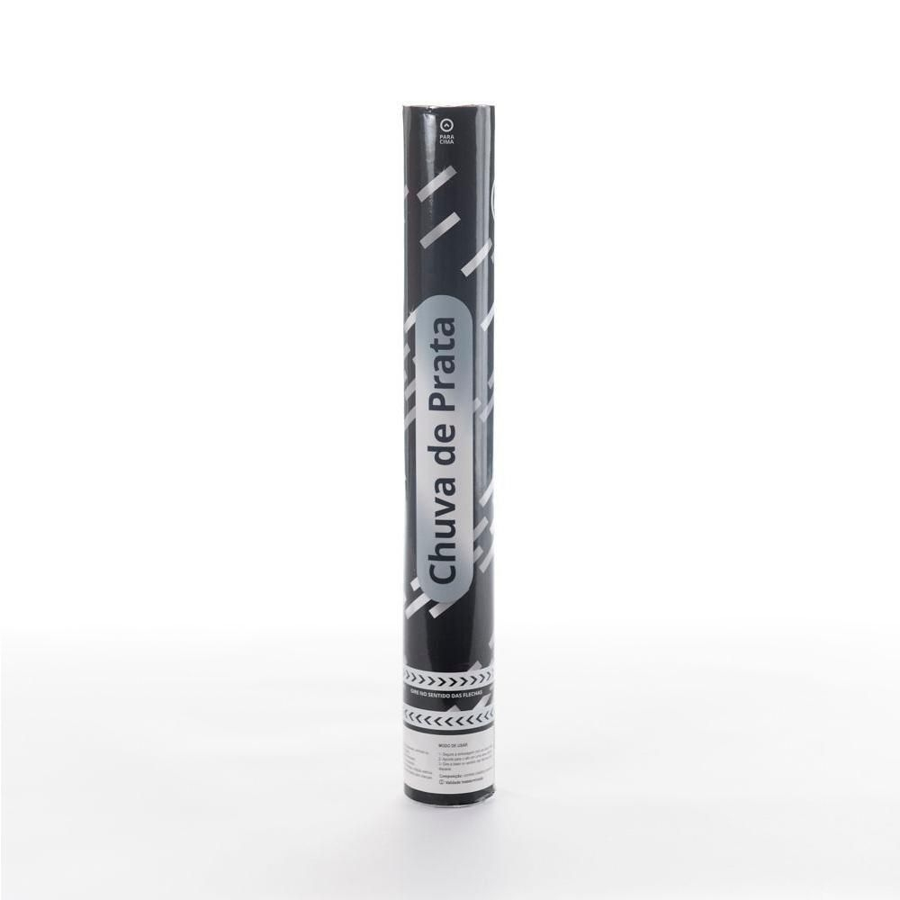 Lança Confete Estrela Prata 30 cm - 01 unidade