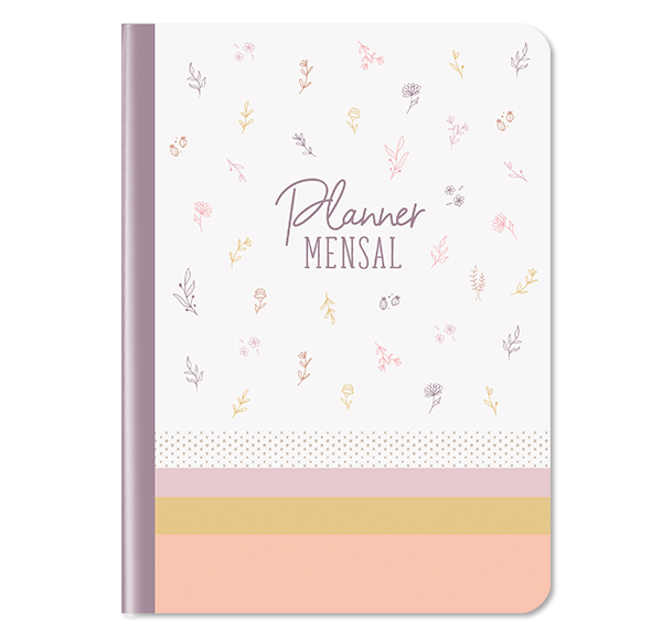 Planner Mensal - Floral -  01 unidade