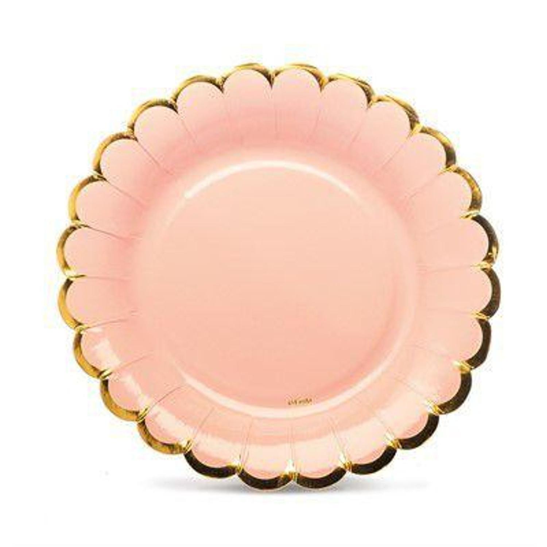 Prato Foil Rosa 18 cm - 6 Unidades