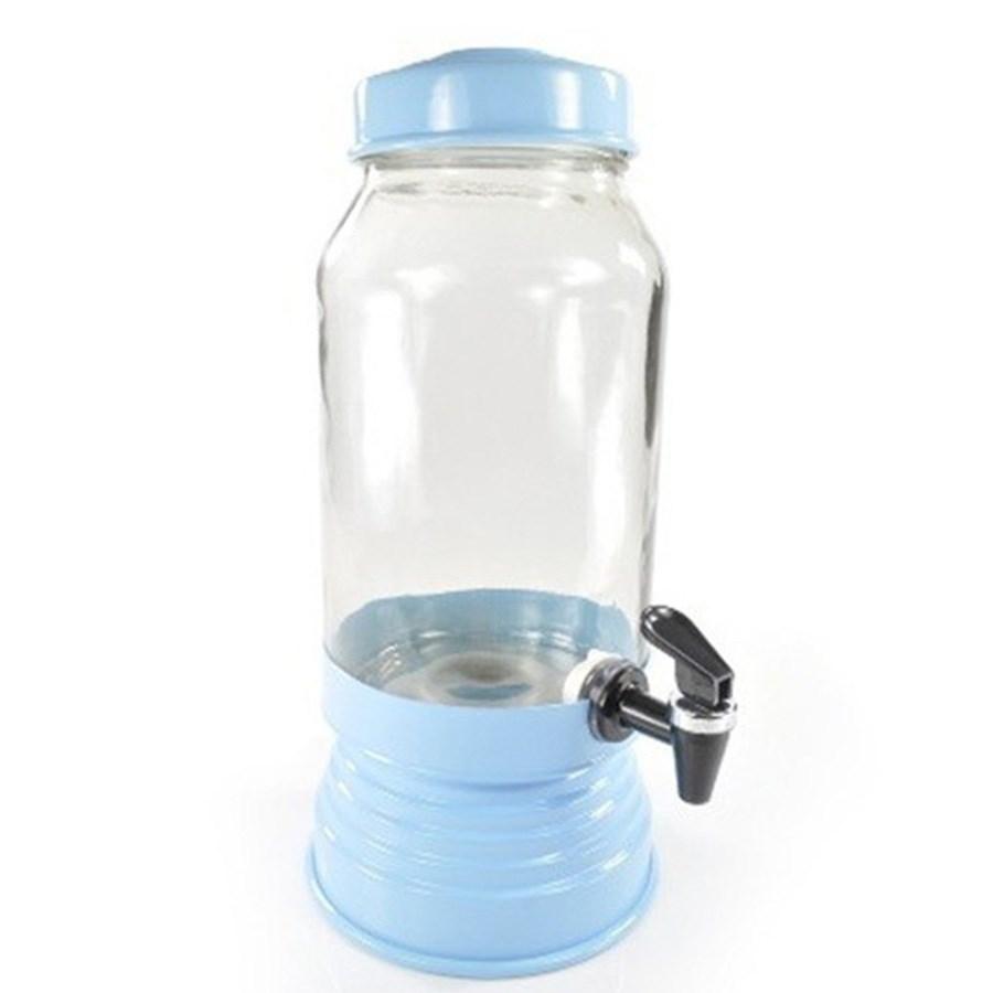 Suqueira de Vidro 3,250L - Azul Bebê