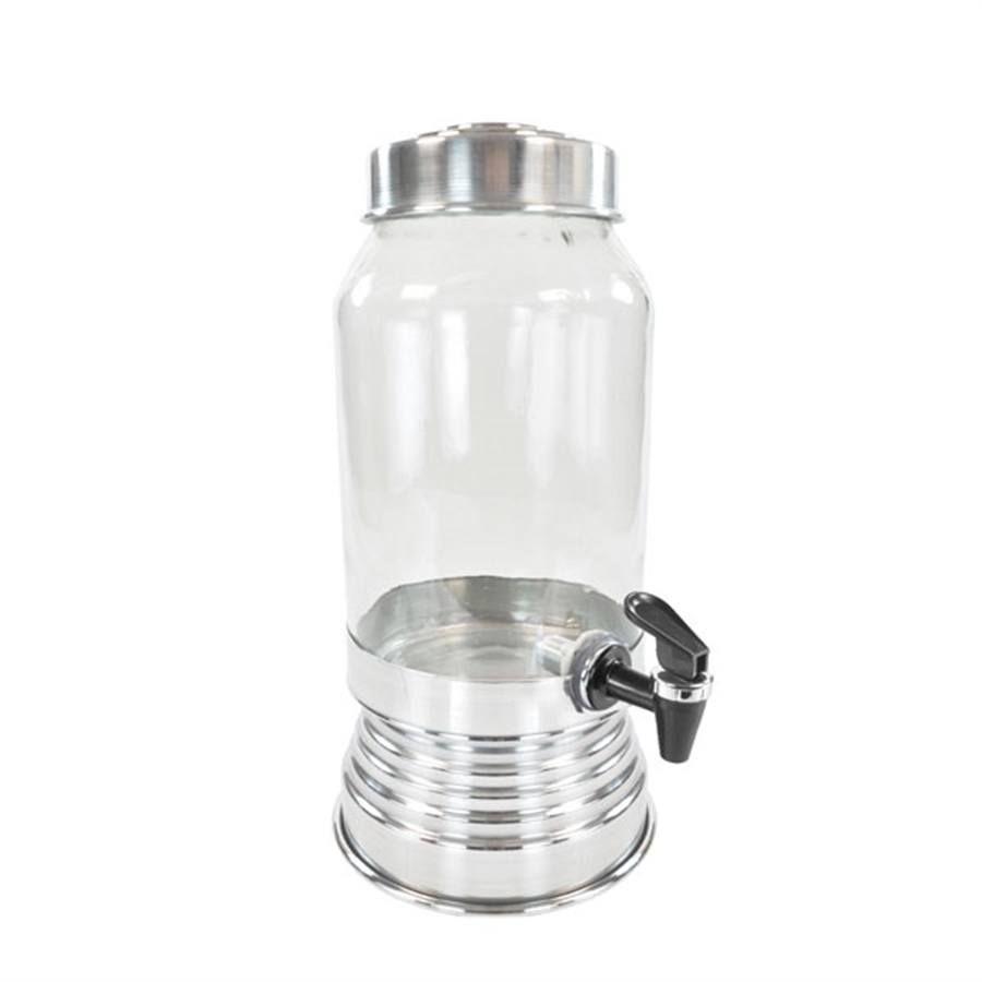 Suqueira de Vidro 3,250L - Prata