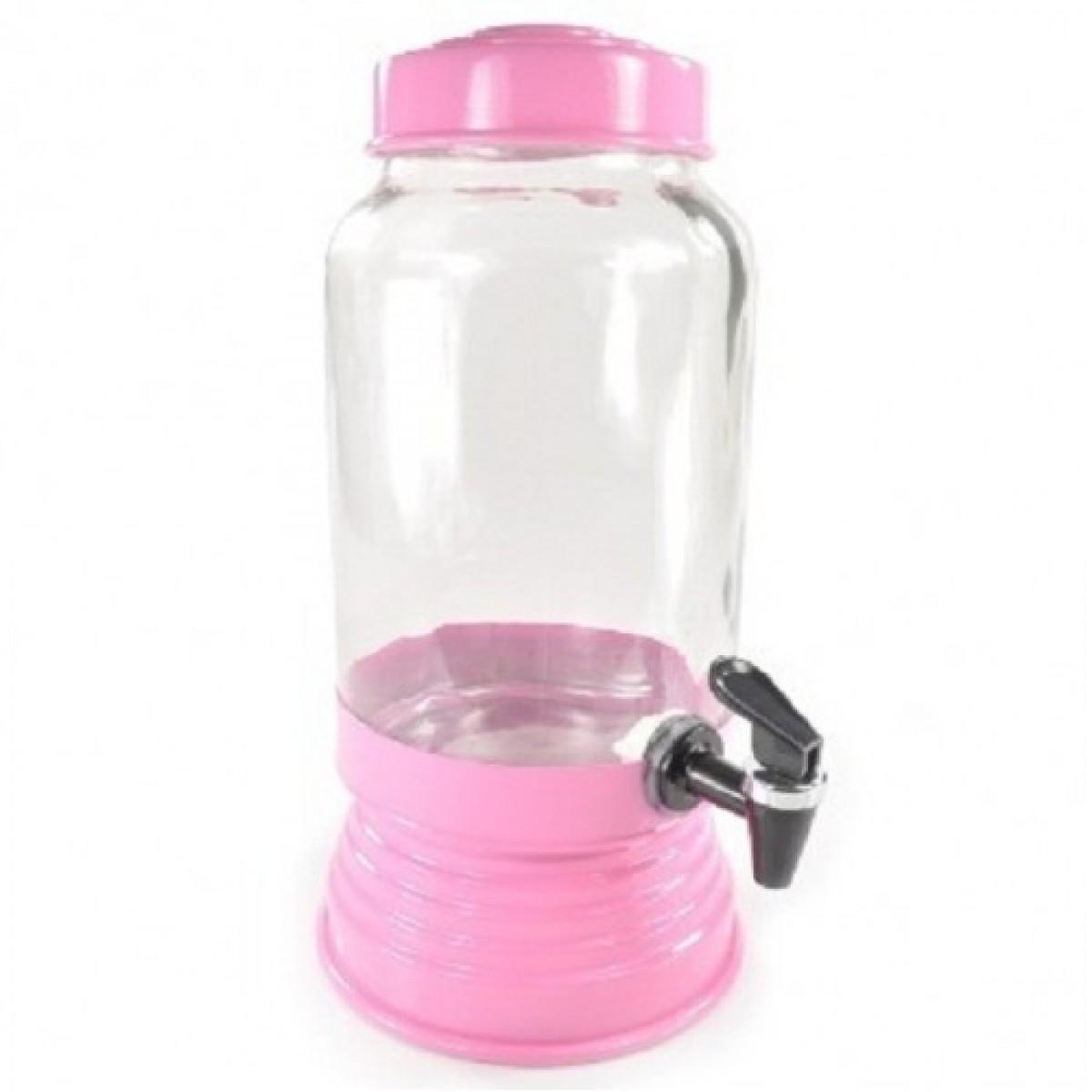 Suqueira de Vidro 3,250L - Rosa Bebê