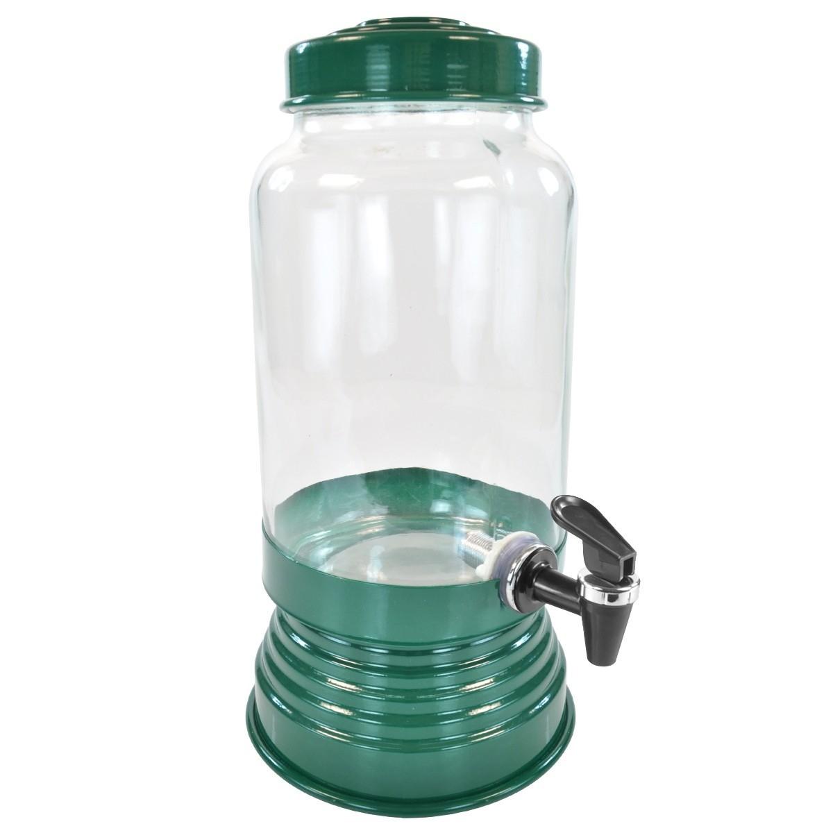 Suqueira de Vidro 3,250L - Verde Escuro