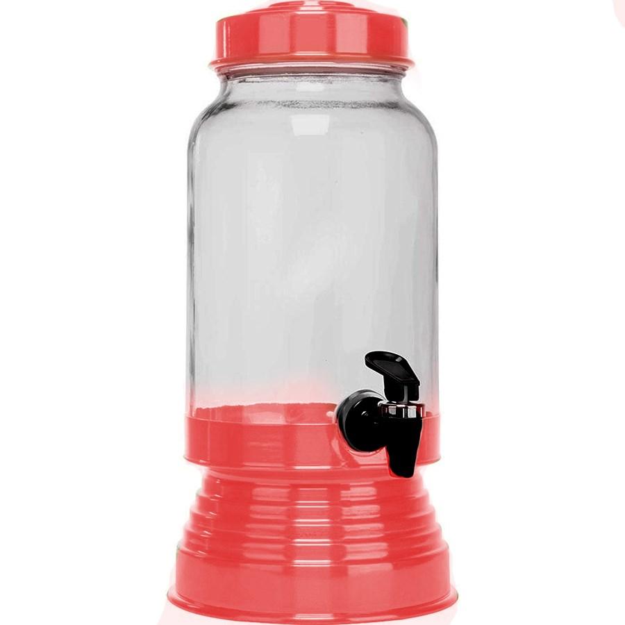 Suqueira de Vidro 3,250L - Vermelha