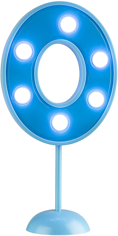 Vela Grande Led Azul - Número 0