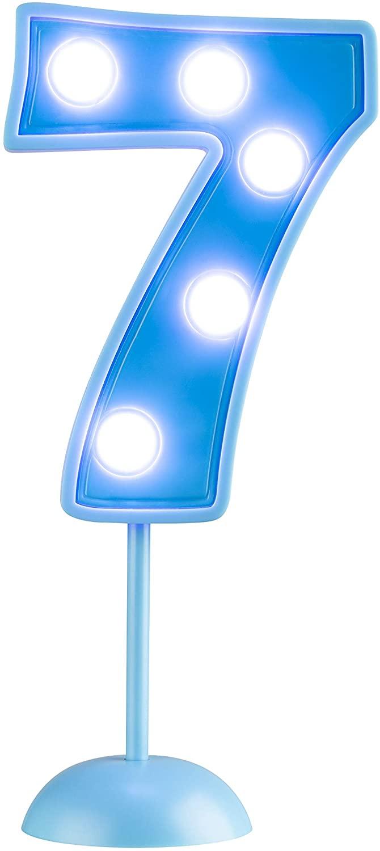 Vela Grande Led Azul - Número 7