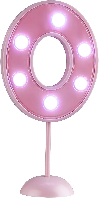 Vela Grande Led Rosa - Número 0