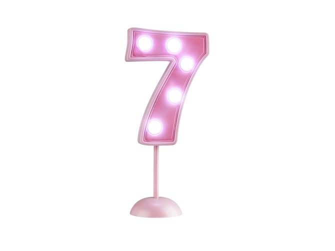 Vela Grande Led Rosa - Número 7