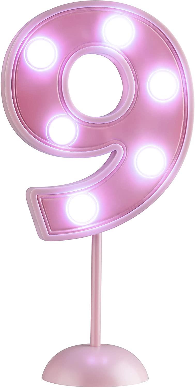 Vela Grande Led Rosa - Número 9