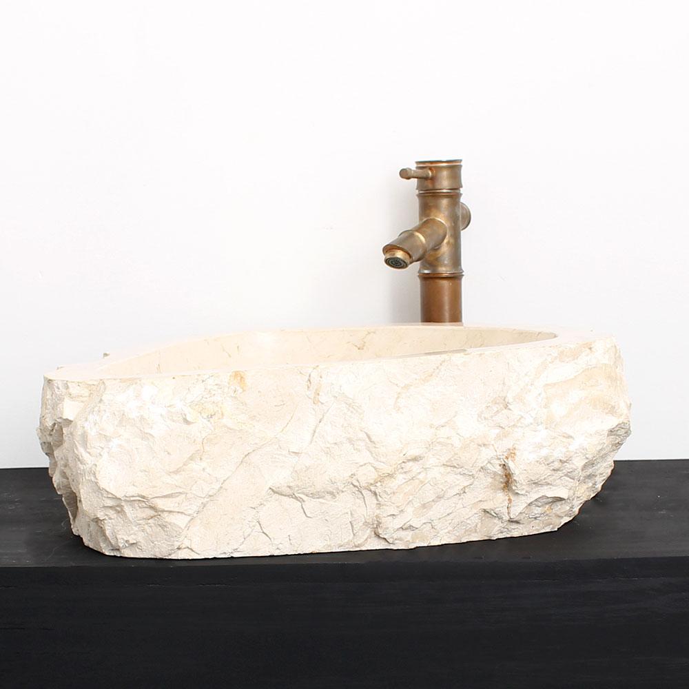Cuba de Banheiro em Mármore Natural MEC02 45 X 44 X 15cm