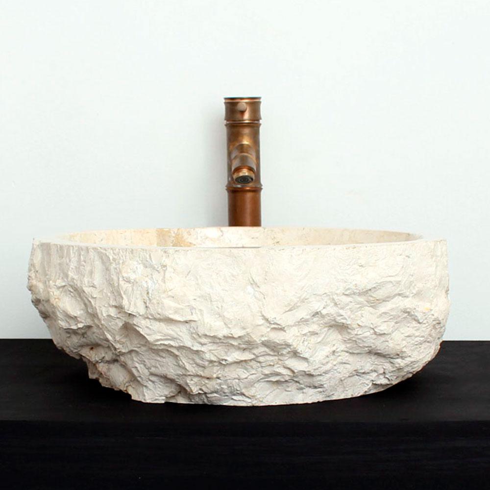 Cuba de Banheiro em Mármore Natural MEC03 44 X 41 X 15cm