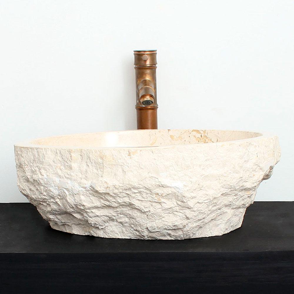 Cuba de Banheiro em Mármore Natural MEC06 45 X 37 X 15cm