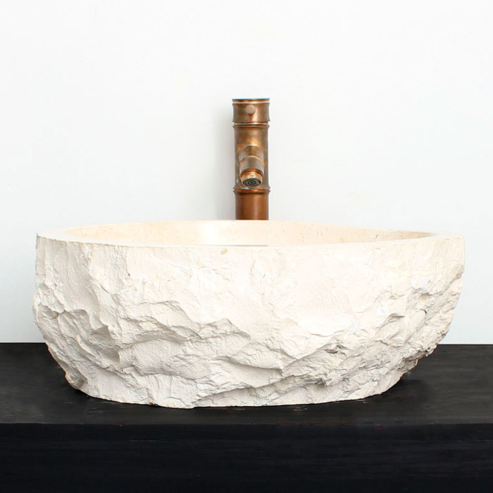Cuba de Banheiro em Mármore Natural MEC11 44 X 38 X 15cm