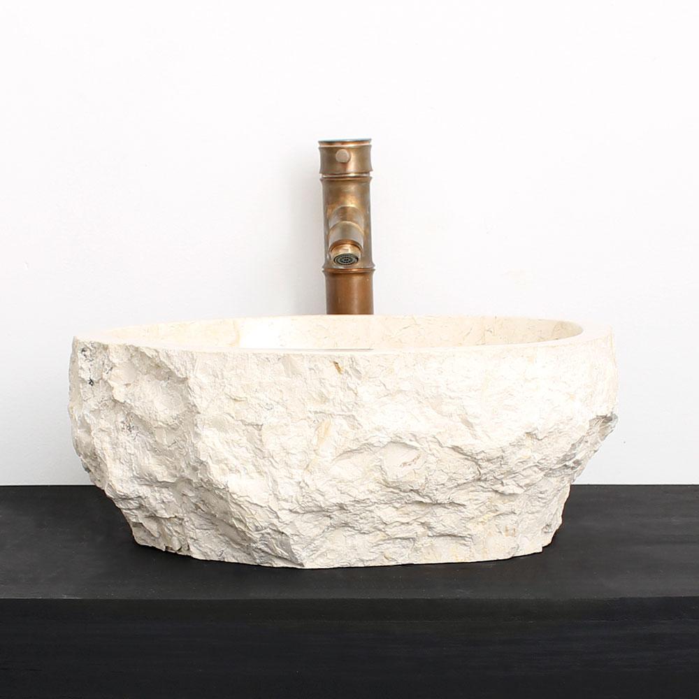 Cuba de Banheiro em Mármore Natural MEC14 42 X 36 X 15cm
