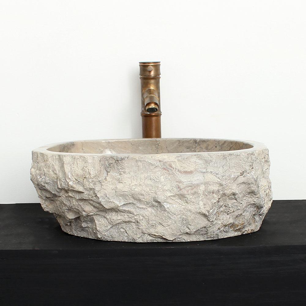 Cuba de Banheiro em Mármore Natural MSG14 46 X 40 X 15cm