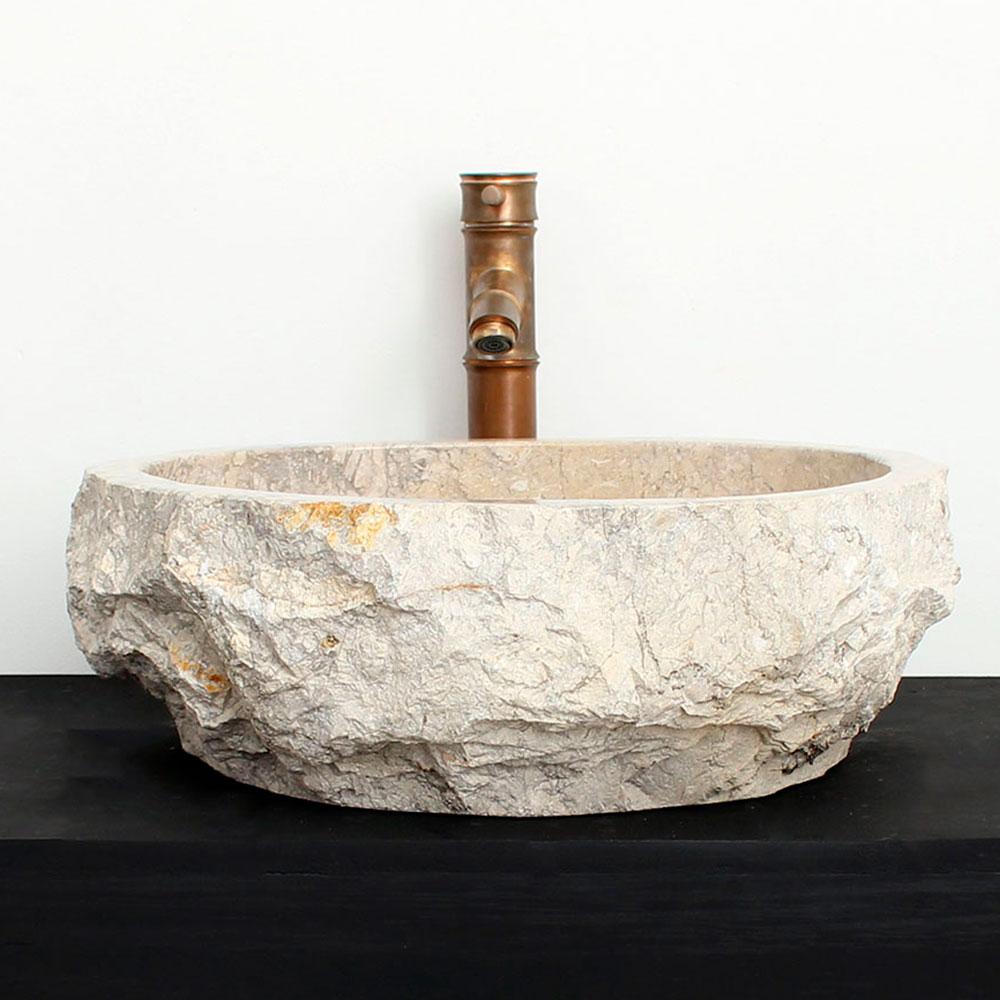 Cuba de Banheiro em Mármore Natural MSG15-L 45 X 41 X 15cm