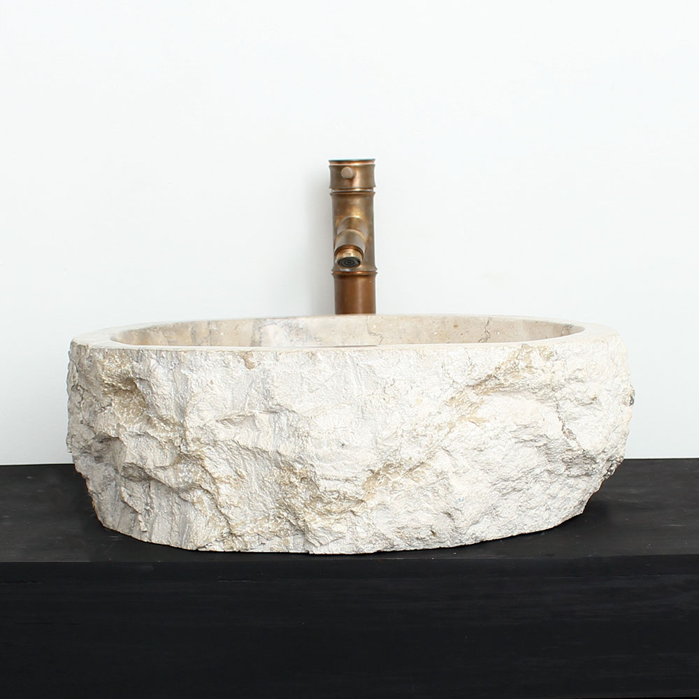 Cuba de Banheiro em Mármore Natural MSG16 46 X 41 X 15cm