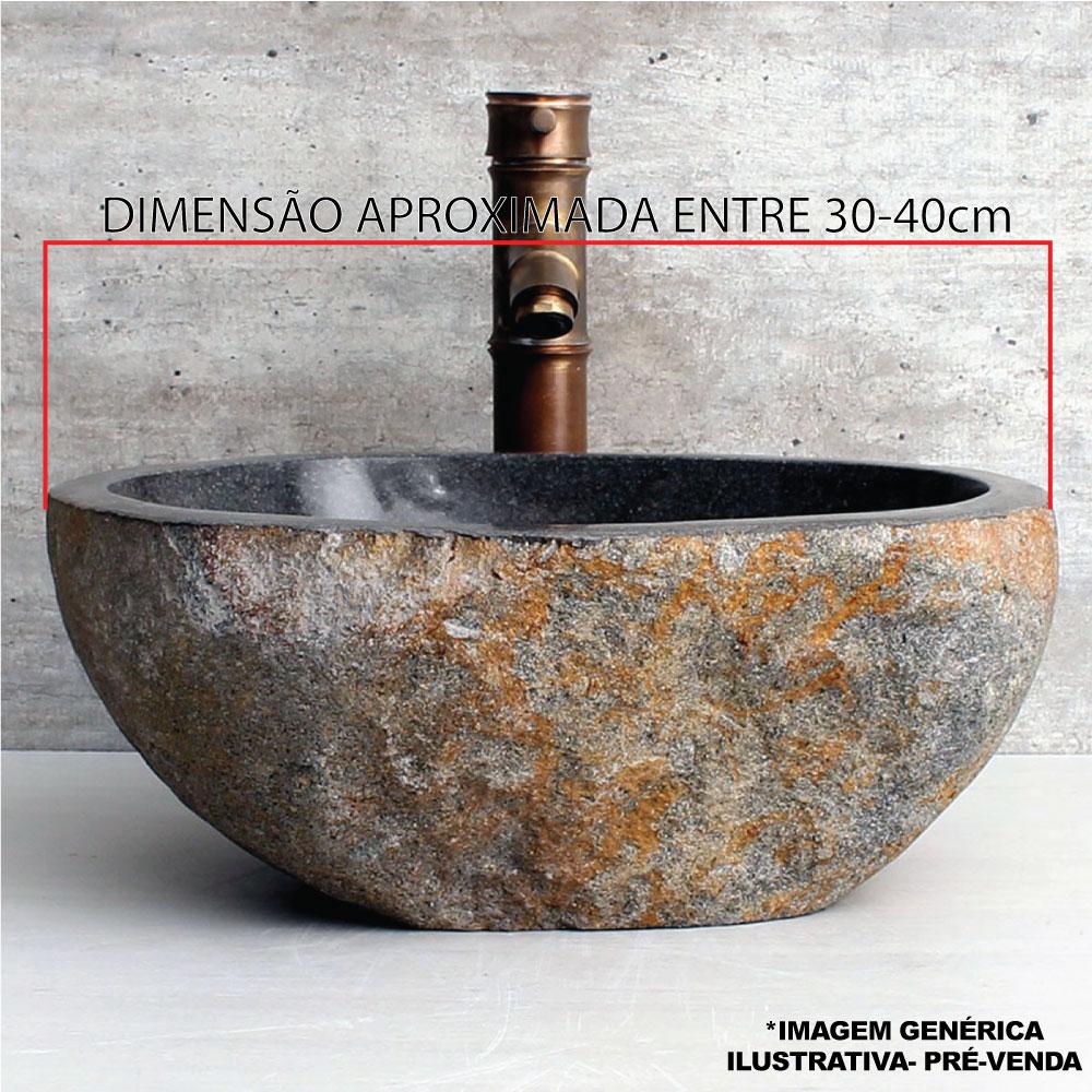 Cuba de Banheiro em Pedra Natural RS 30 a 40cm - Pré-Venda - Leia Descrição