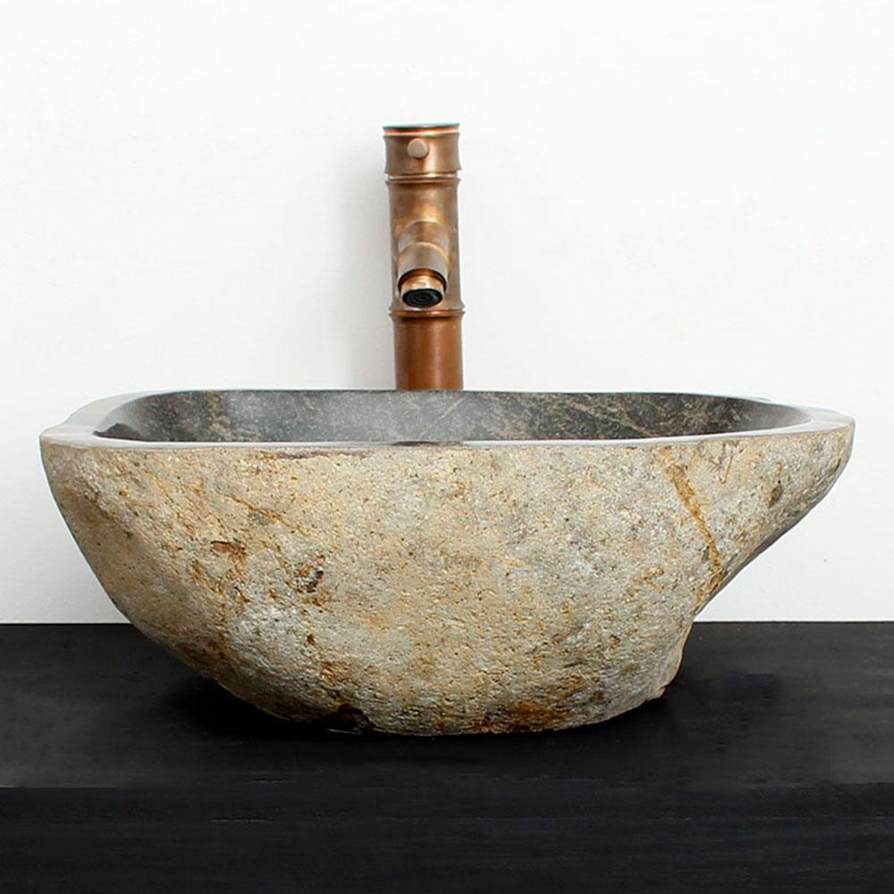 Cuba de Banheiro em Pedra Natural RM01  41 X 35 X 15cm