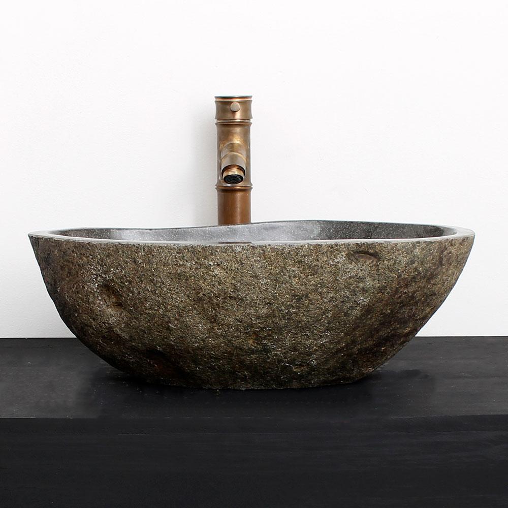 Cuba de Banheiro em Pedra Natural RM02G 47 X 33 X 15cm