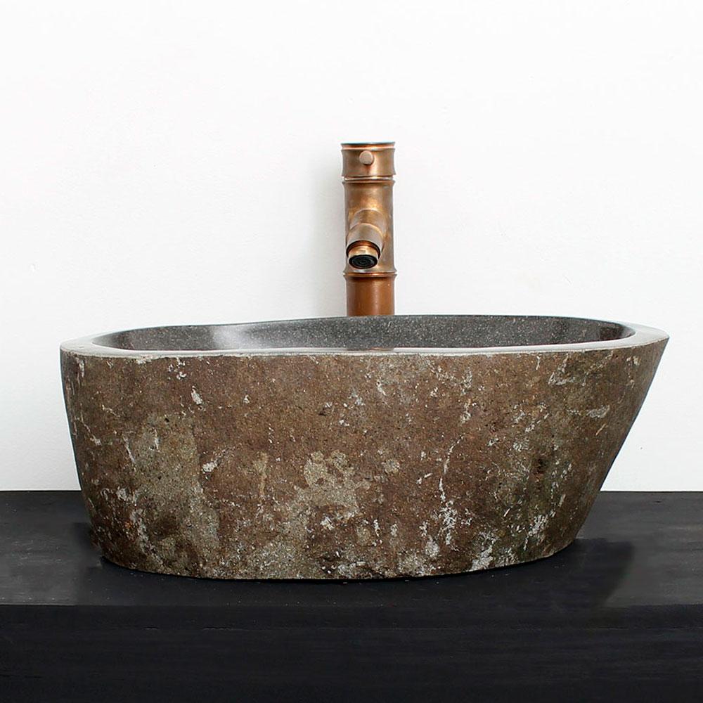 Cuba de Banheiro em Pedra Natural RM03  45 X 32 X 15cm