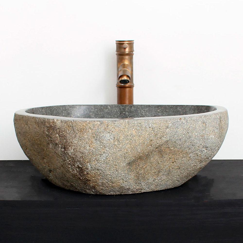 Cuba de Banheiro em Pedra Natural RM04  45 X 40 X 15cm