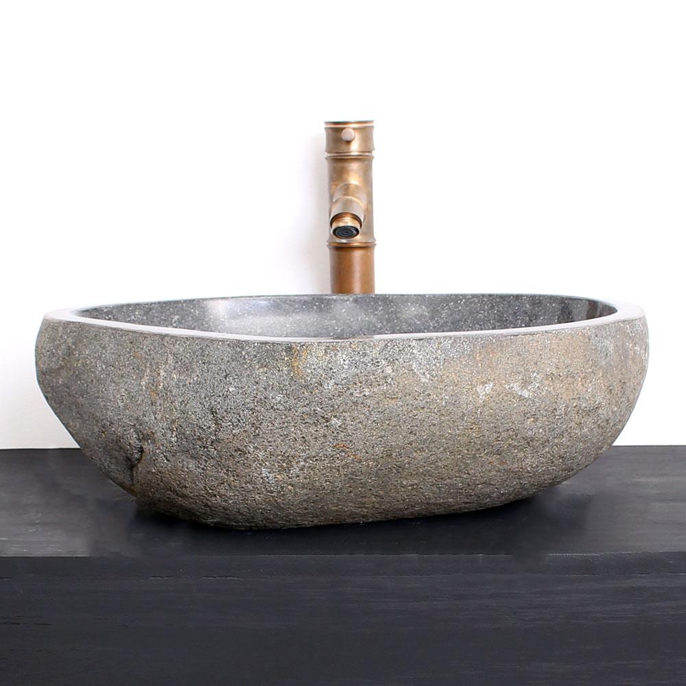 Cuba de Banheiro em Pedra Natural RM08G-L 48 X 43 X 15cm