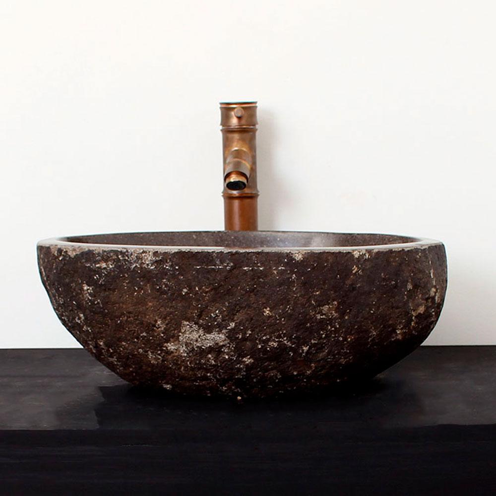 Cuba de Banheiro em Pedra Natural RM10  43 X 35 X 15cm