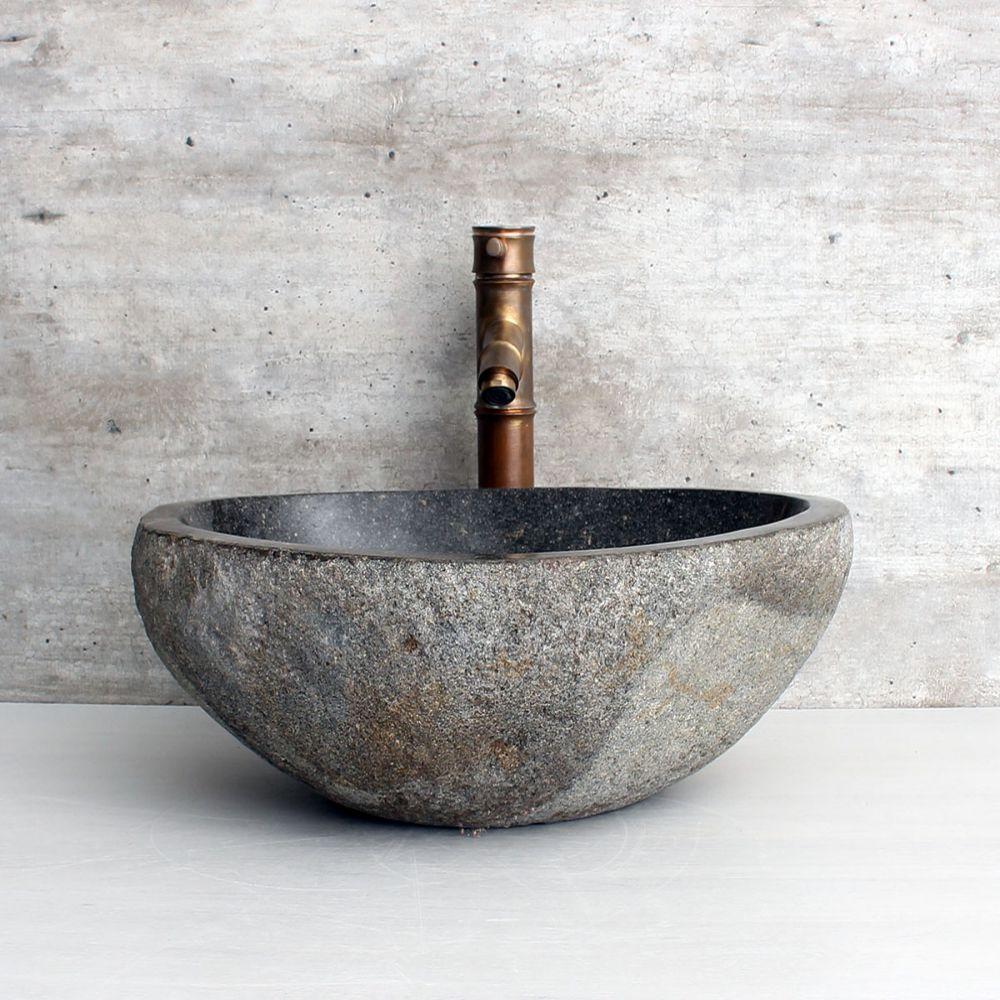 Cuba de Banheiro em Pedra Natural RM11106 45x35x15cm