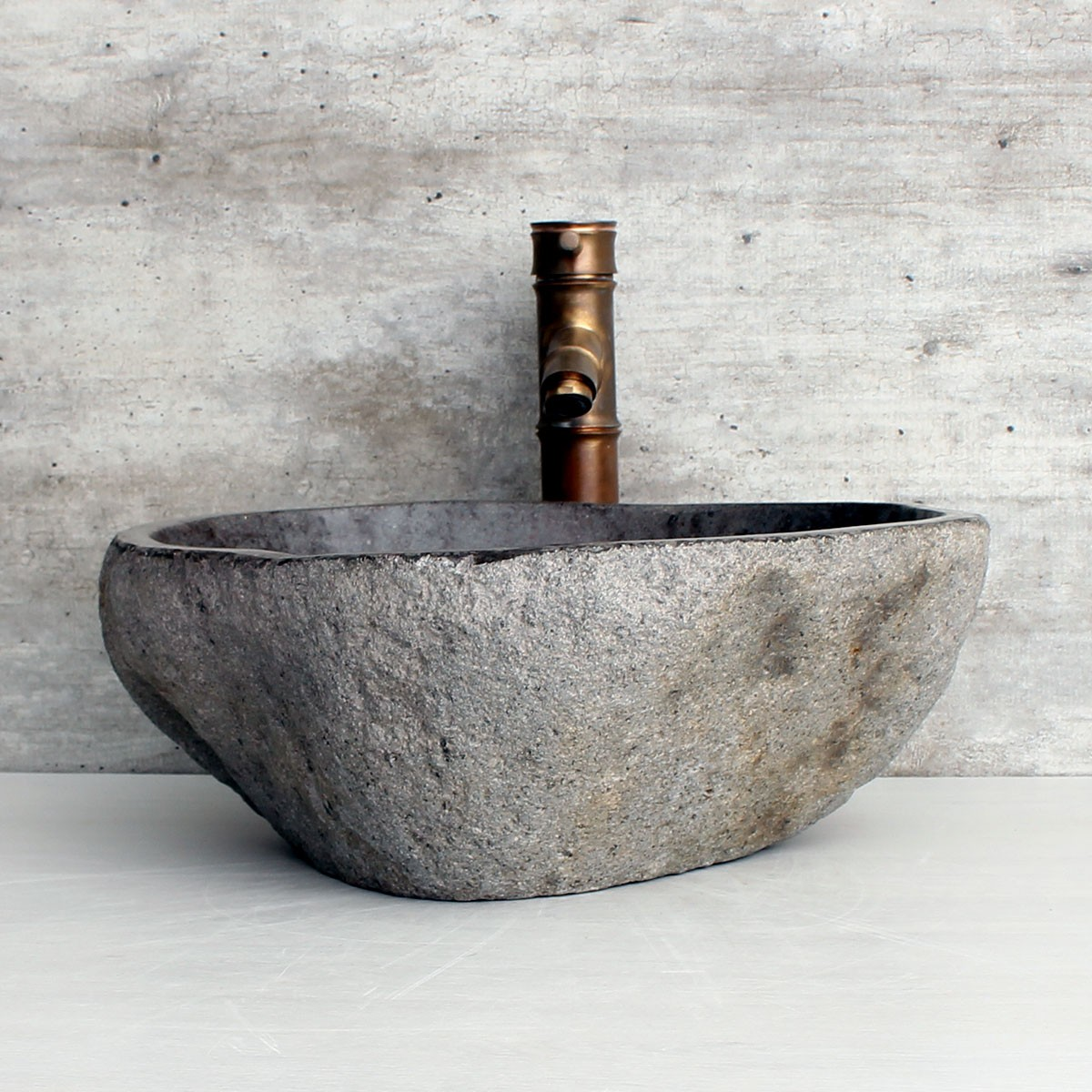 Cuba de Banheiro em Pedra Natural RM1111 42x37x15cm