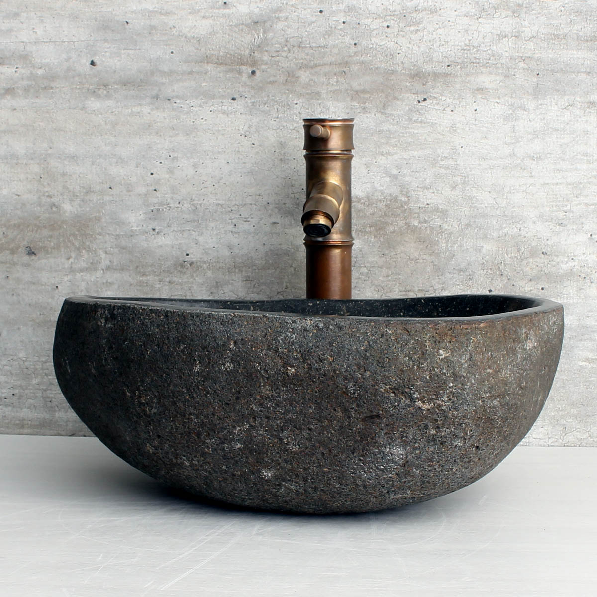 Cuba de Banheiro em Pedra Natural RM1119 41x35x15cm
