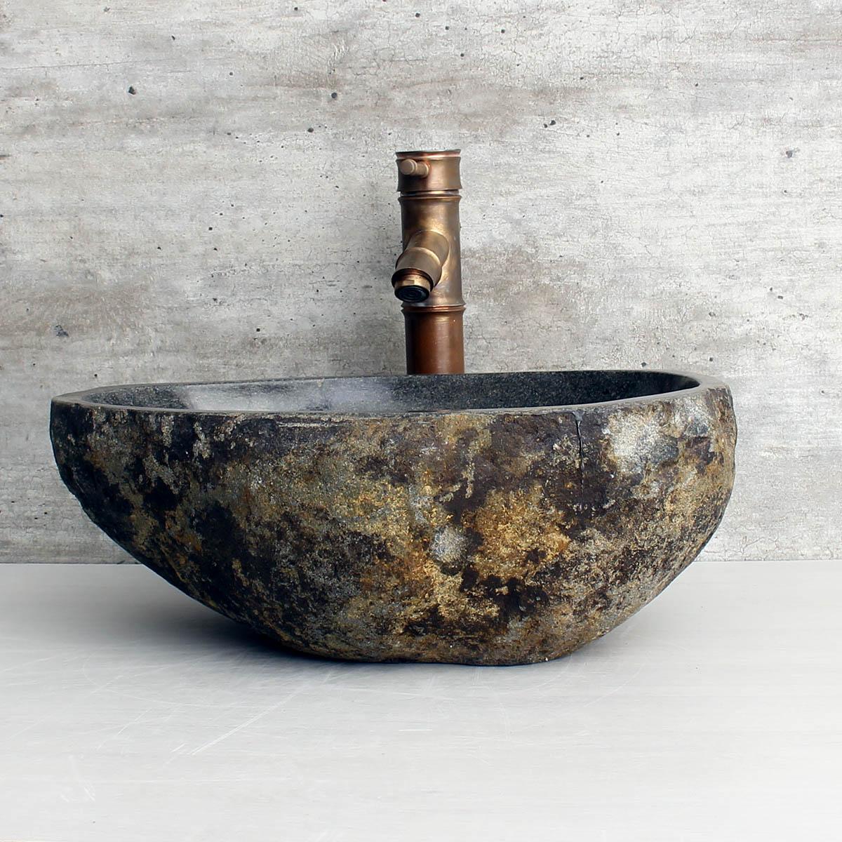 Cuba de Banheiro em Pedra Natural RM1127 42x32x15cm