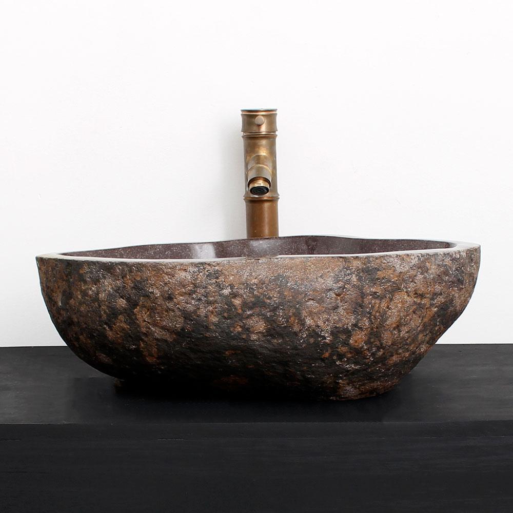 Cuba de Banheiro em Pedra Natural RM15G  47 X 39 X 15cm