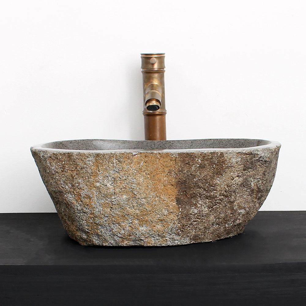 Cuba de Banheiro em Pedra Natural RM16  43 X 32 X 15cm