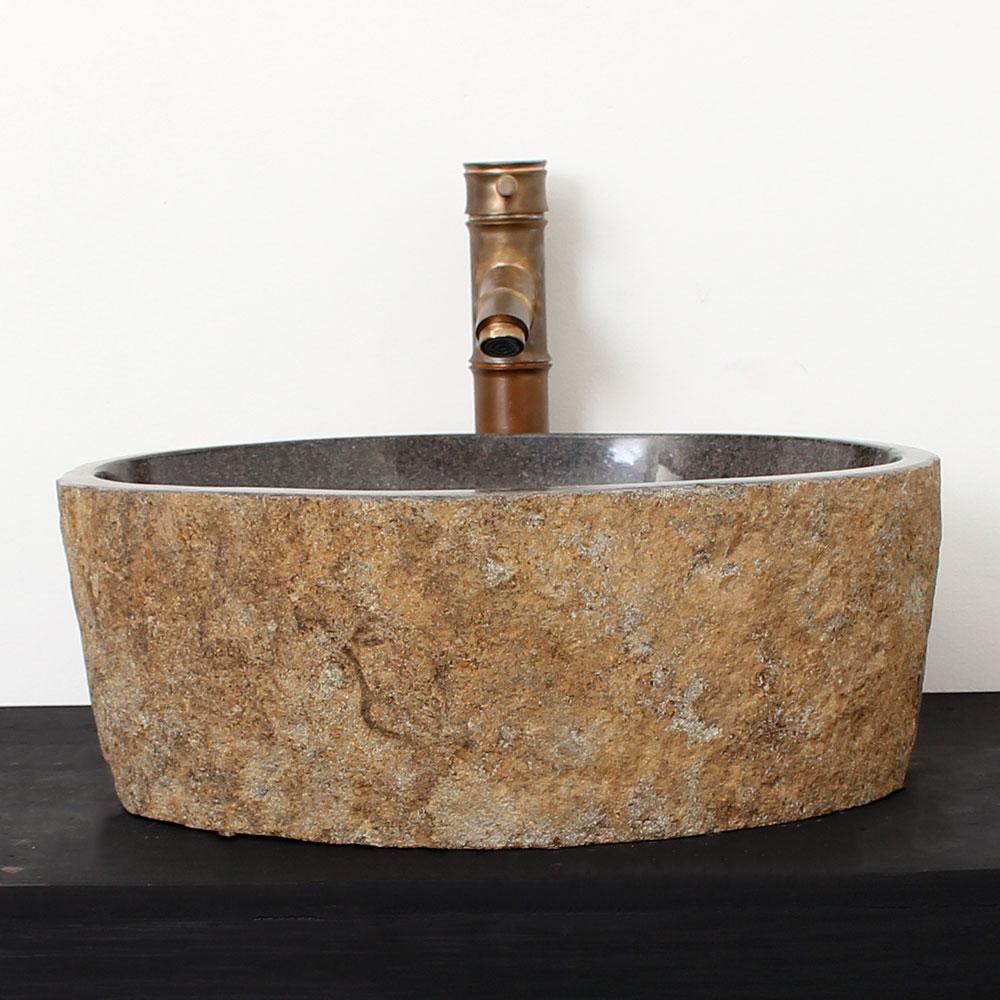 Cuba de Banheiro em Pedra Natural RM17  42 X 37 X 15cm