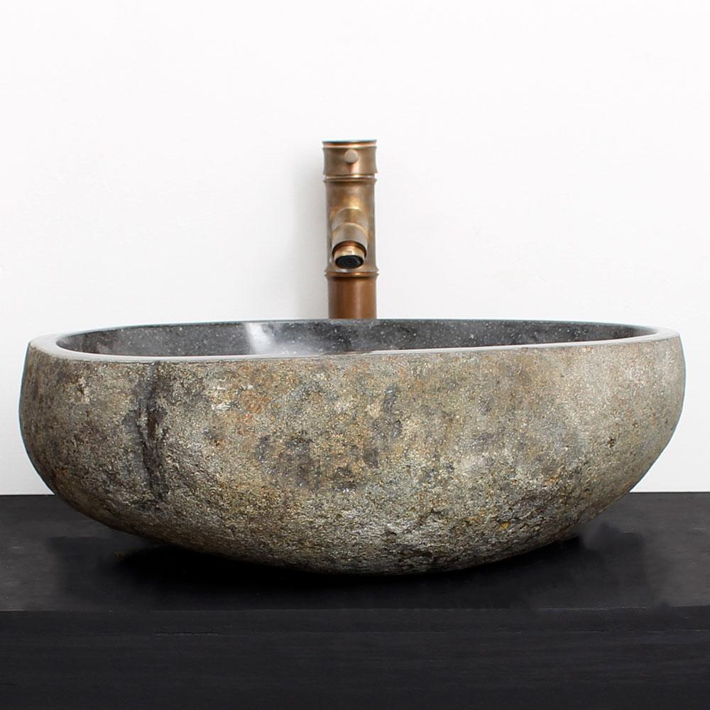 Cuba de Banheiro em Pedra Natural RM20G  48 X 40 X 15cm