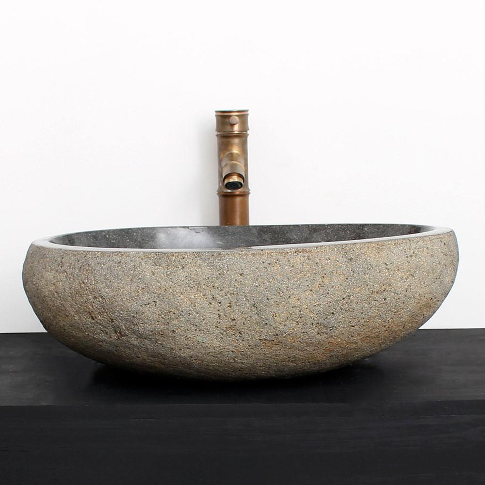 Cuba de Banheiro em Pedra Natural RM21G  49 X 42 X 15cm