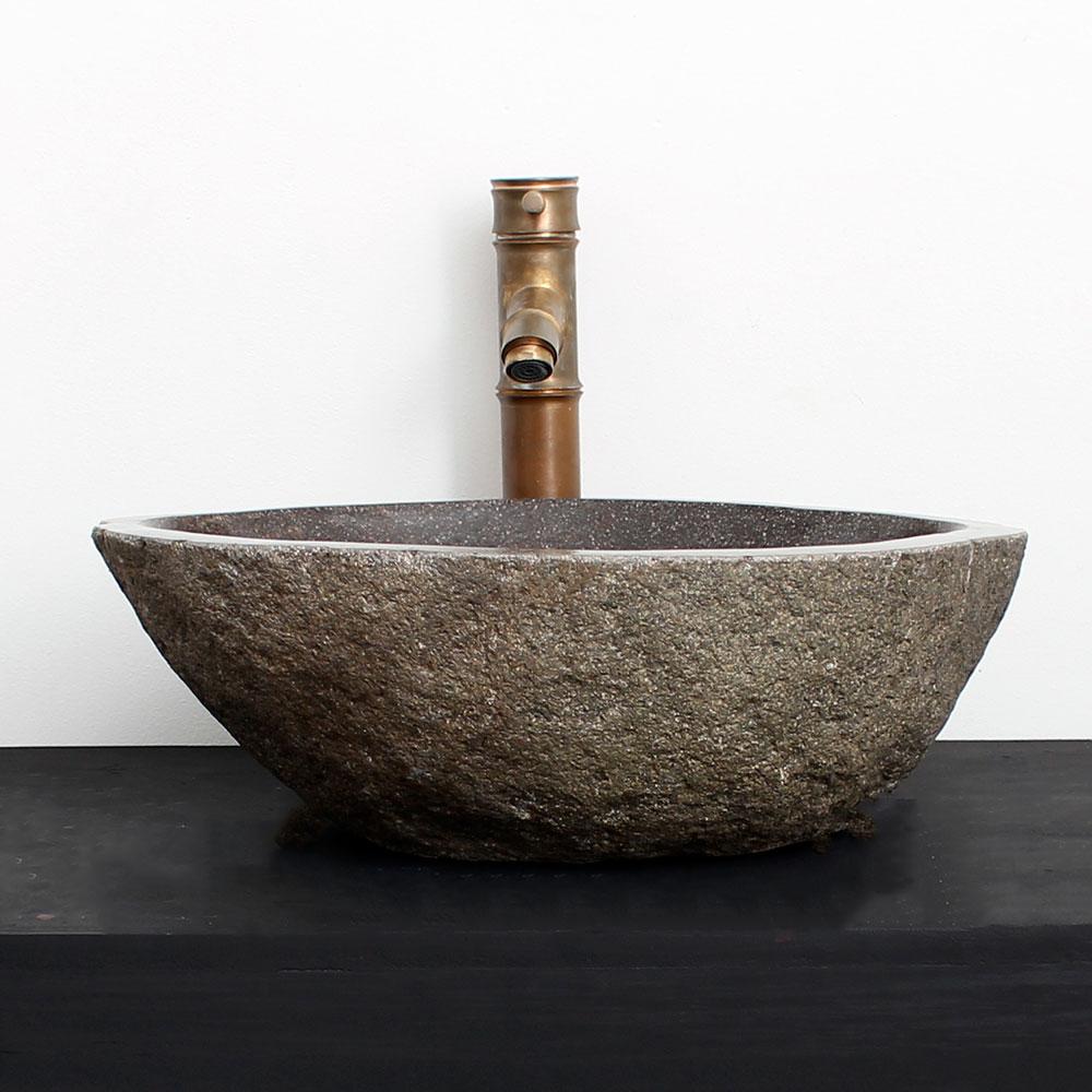 Cuba de Banheiro em Pedra Natural RM23  43 X 38 X 15cm