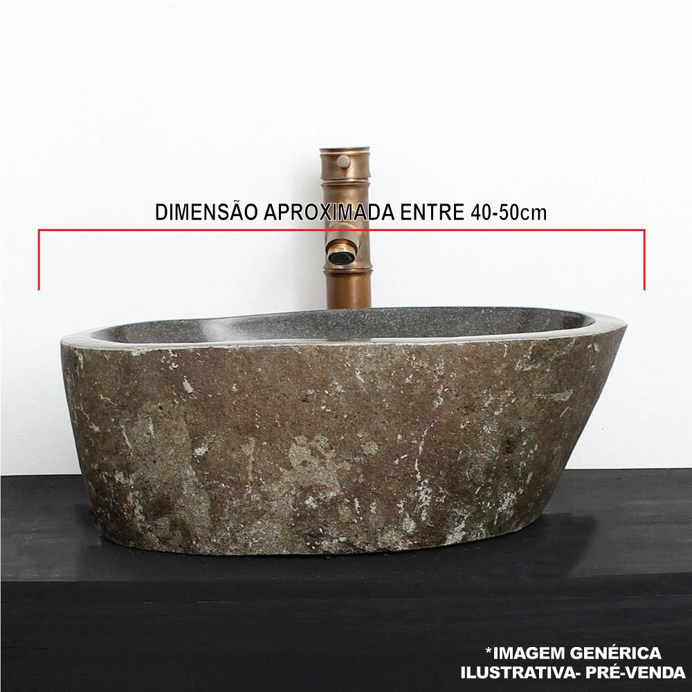 Cuba de Banheiro em Pedra Natural RM 40 a 50cm - Pré-Venda - Leia Descrição