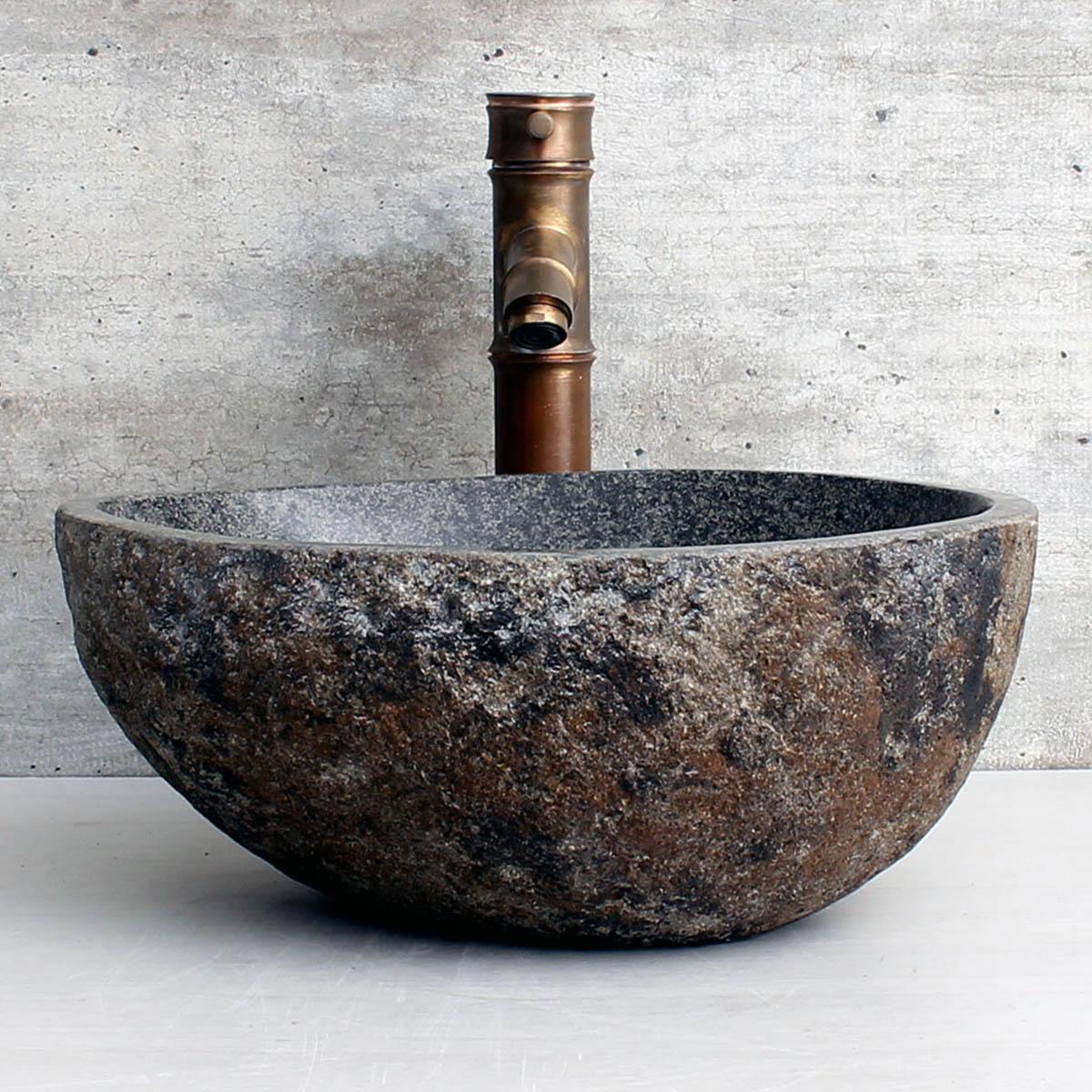 Cuba de Banheiro em Pedra Natural RS1110 36x30x15cm