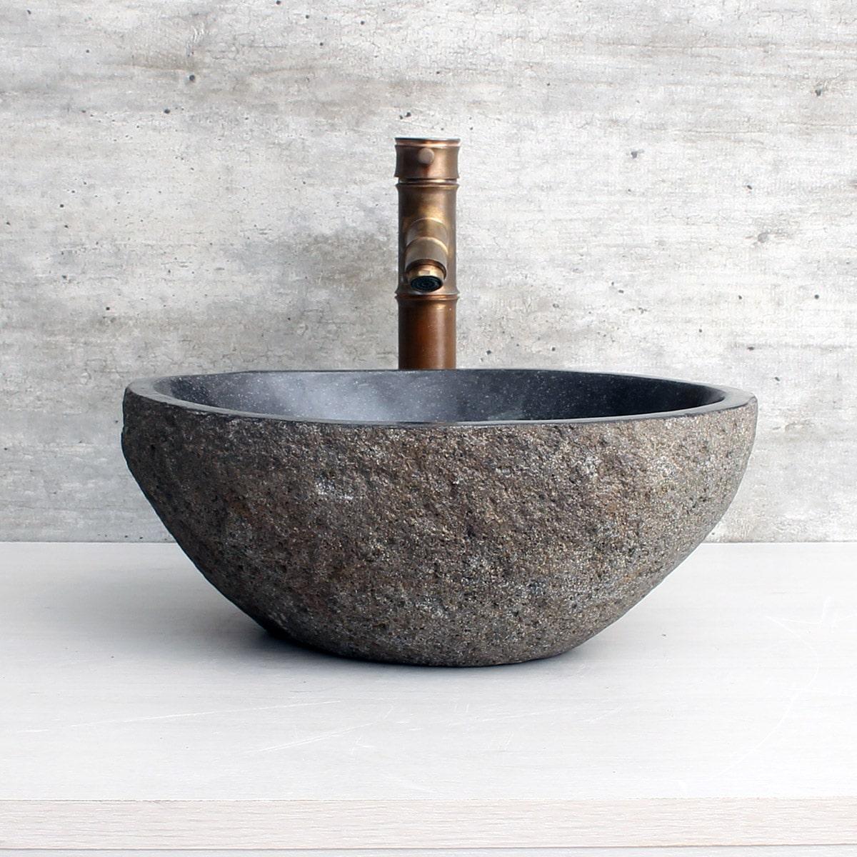 Cuba de Banheiro em Pedra Natural RS1119 38x31x15cm