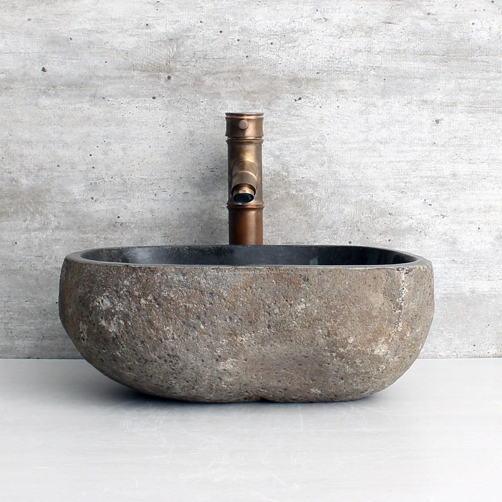 Cuba de Banheiro em Pedra Natural RS1132 38x32x15cm