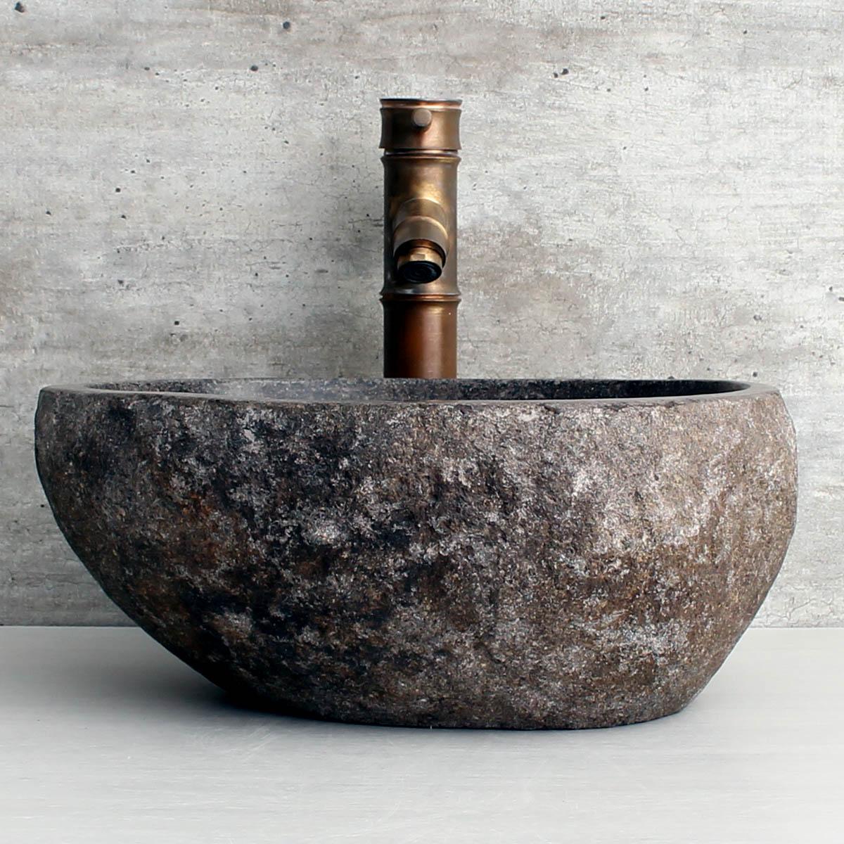 Cuba de Banheiro em Pedra Natural RS1135 36x33x15cm