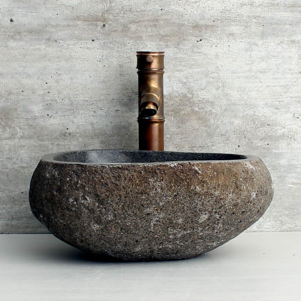 Cuba de Banheiro em Pedra Natural RS1141 35x34x15cm