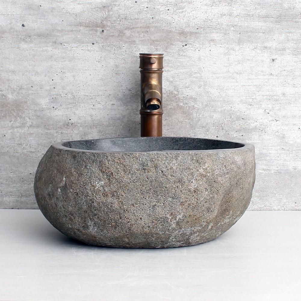 Cuba de Banheiro em Pedra Natural RS1149-L 38x36x15cm