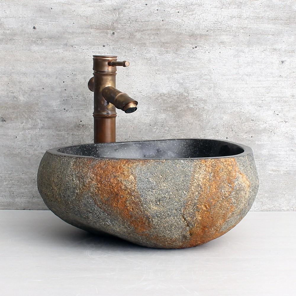 Cuba de Banheiro em Pedra Natural RS1152 36x35x15cm