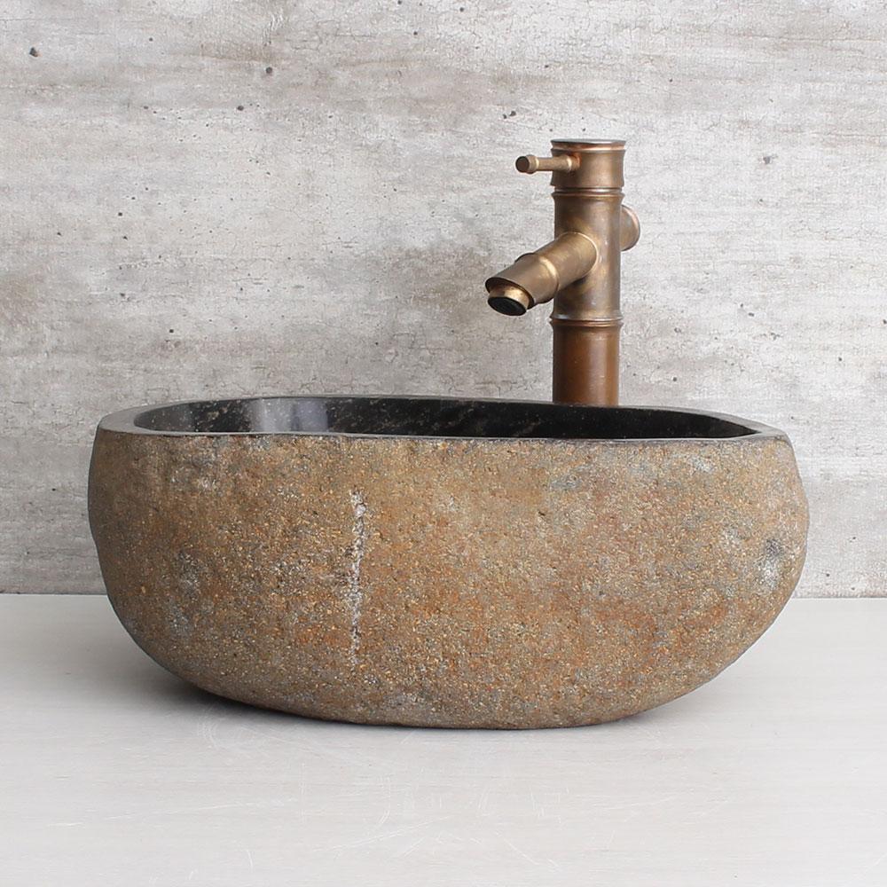 Cuba de Banheiro em Pedra Natural RS1156 39x33x15cm